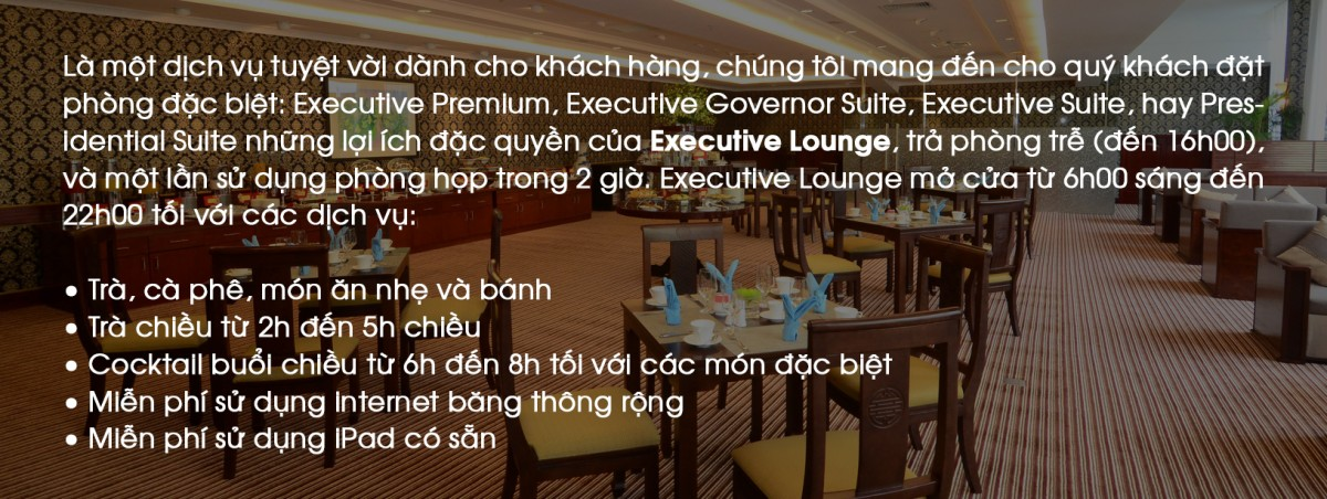 Executive Lounge Benefits